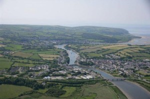 aerial view of cardigan