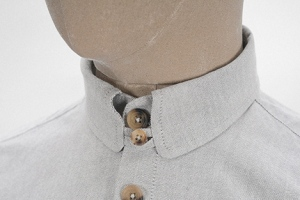 sehkelly light-grey-cotton-oxford-tab-collar-shirt-8s