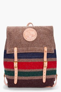 Yuketen striped wool