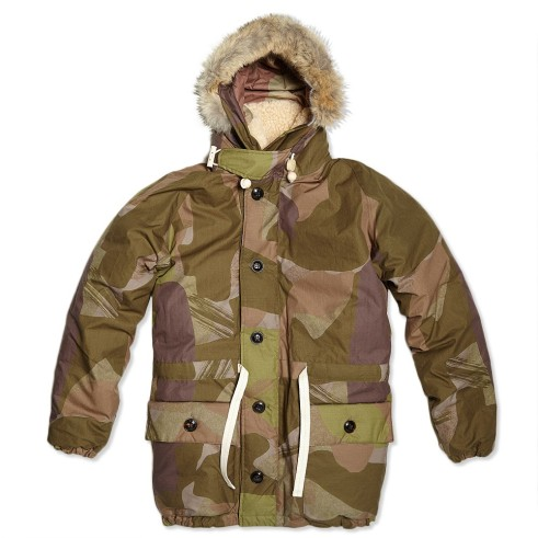 Nigel Cabourn AW13 Everest jacket in camouflage (Photo courtesy of End Clothing)