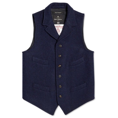 Harris Tweed Mallory vest, this year in Indigo colour also (Photo courtesy of End Clothing)