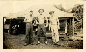 three-buddies-taking-a-break-vintage-denim-workwear-mens-fashion-inspiration-1940s