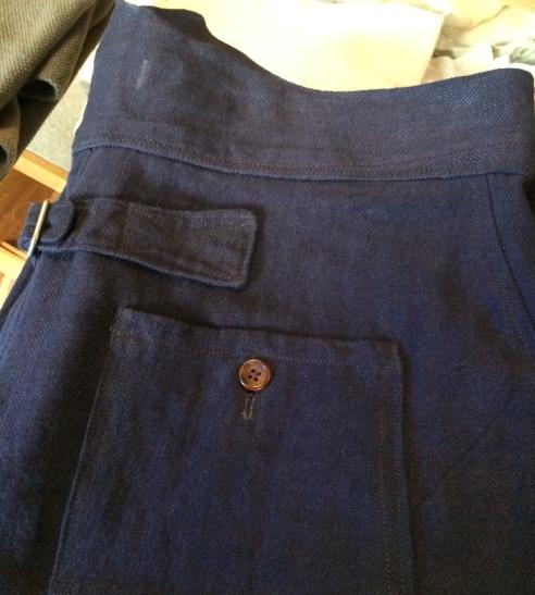 trouser deadstock fabric