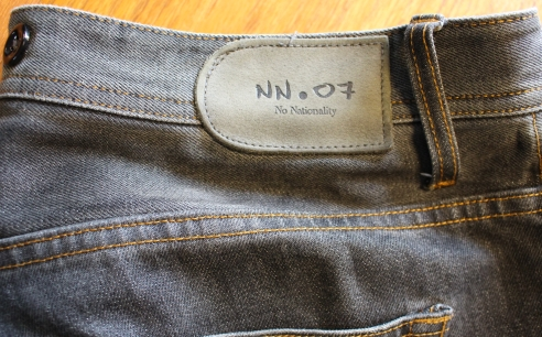 "NN07 jeans in grey Japanese selvedge denim. Nicely broken in. I've added buttons for braces. Lots of life left in them and you avoid looking like you've just got a fresh pair of cool Nordic jeans, right? Size is marked as 33"", but measure larger. Asking 45 pounds."