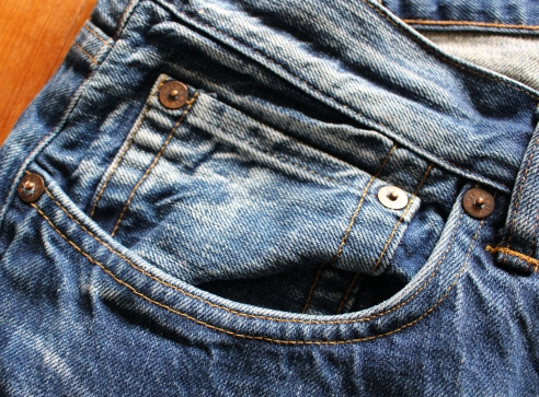 "A ready worn in pair of Indigofera Mack jeans. I forget which exact model they are, but certainly a decent pair of jeans. I prefer mine nice, crisp and blue, so these are for you! Accurately sized at 36"" waist and 34"" inseam. Asking 45 pounds."