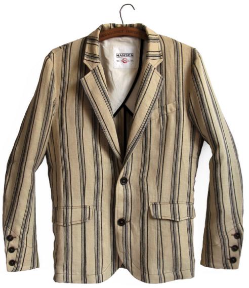 frederik linen striped blazer