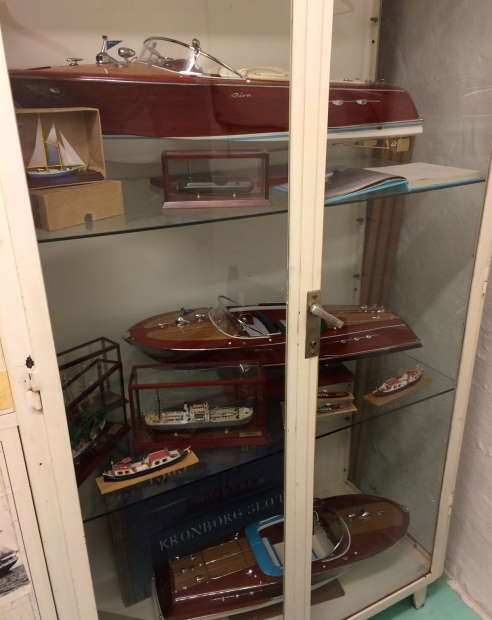 Even the changing room at Maritime & Antique has something to look at!