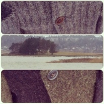 the nature hues of harris tweed small