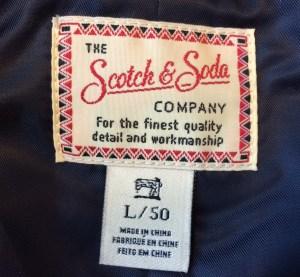 scotch soda label