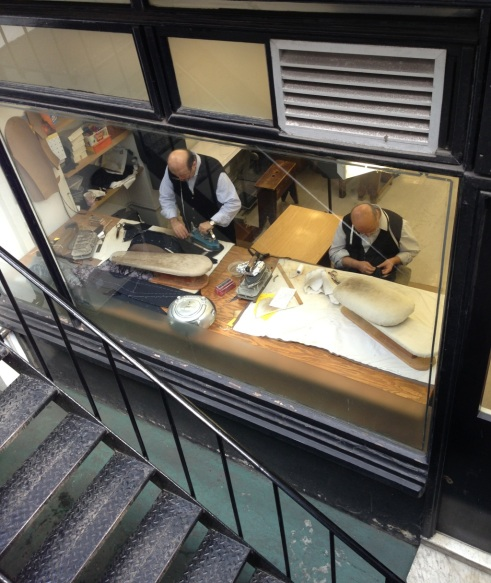 Bespoke tailors in action, from my visit to Savile Row.
