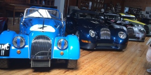 The factory race cars on display. Yes, they go racing!