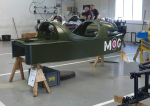 A three-wheeler in the production area. This is mostly only assembled from bits produced elsewhere.