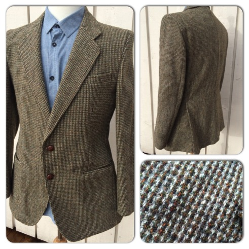 Vintage Harris Tweed jacket. Fitted shape. Spean Woolen Mills, Made in England. Fits like a fitted size 40. No sizing marked. Asking 65 pounds.