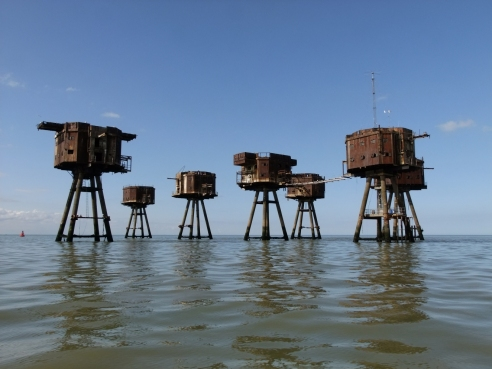 Army style sea fort at Red Sands in 2012.
