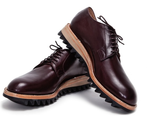 Yuketen Derby shoes with ripple soles
