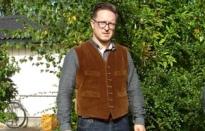 nigel cabourn corduroy farm vest small