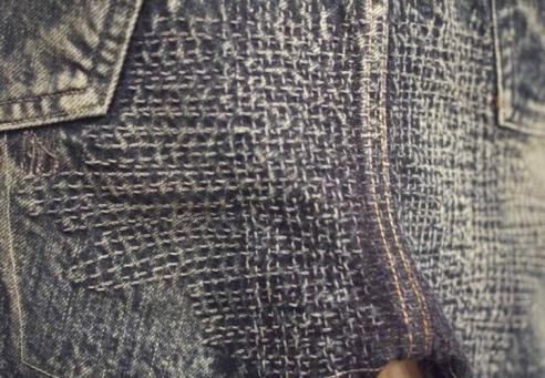 boro sashiko denim repair