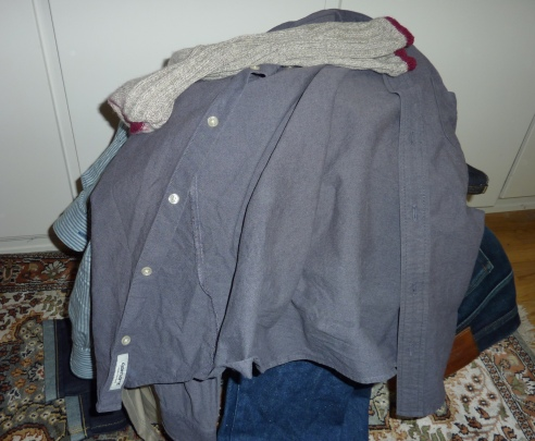 mess of clothes