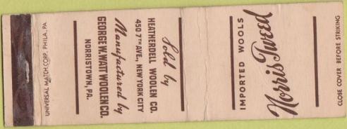 norris tweed matchbox