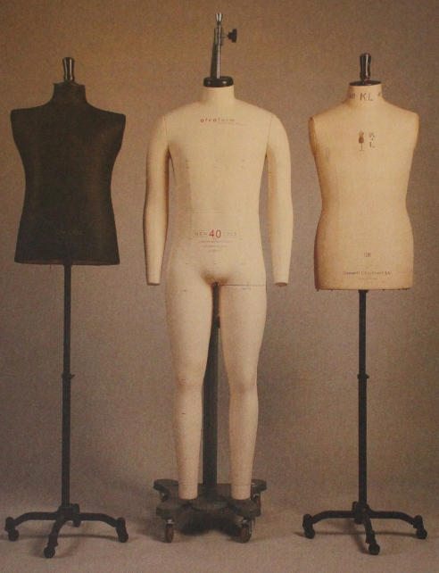 """Tailors busts in standard sizes (borrowed from """"Patternmaking for menswear"""" by Gareth Kershaw, Laurence King publishing)"""