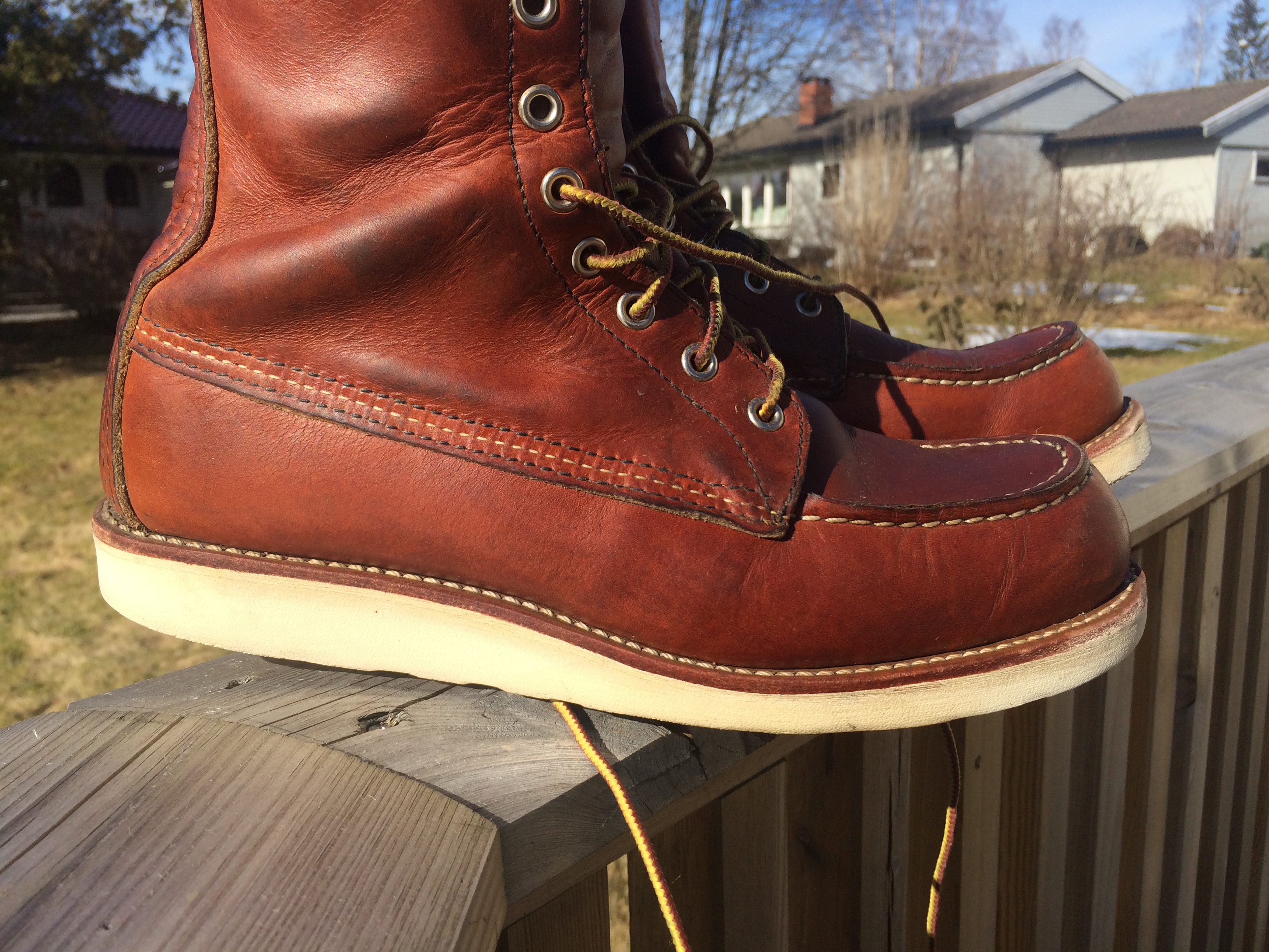 Red Wing Soles keeping Christy soles crispy